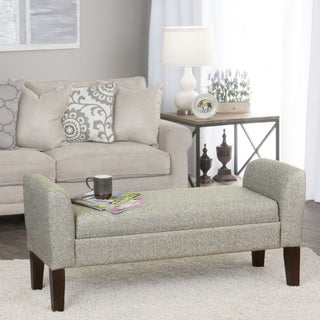 HomePop Tara Storage Bench Settee Pebble Gray