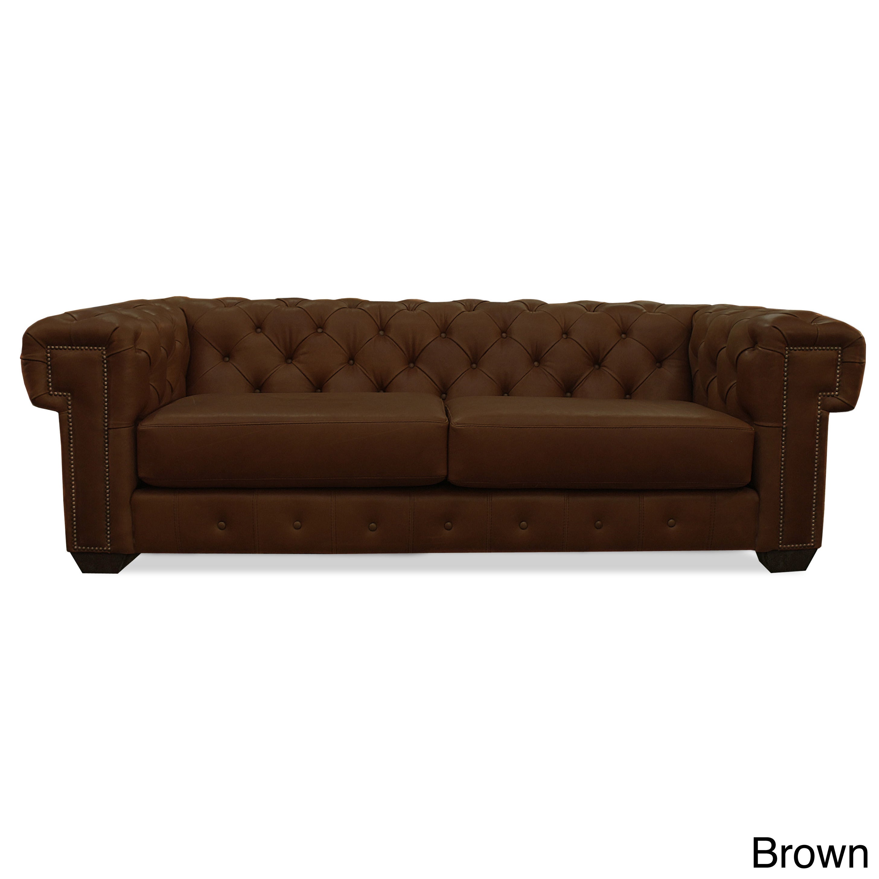 - Shop Charles Chesterfield Leather Tufted Sofa - Overstock - 12144531