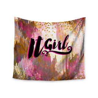 KESS InHouse Ebi Emporium 'It Girl-Black And Pink' Pink Black 51x60-inch Tapestry