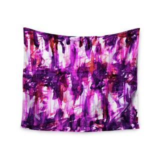 KESS InHouse Ebi Emporium 'White Noise 3' Purple Magenta 51x60-inch Tapestry