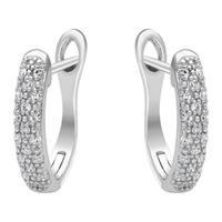 10k White Gold 1/10ct TDW Diamond Earrings