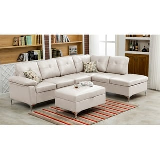 LYKE Home Margie Sectional with Ottoman
