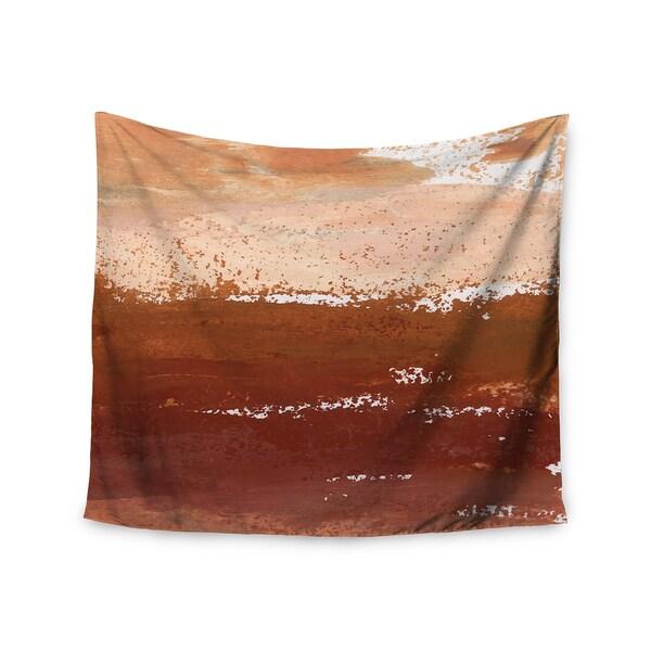 KESS InHouse Iris Lehnhardt 'Cinnamon Chai' Orange Painting 51x60-inch Tapestry