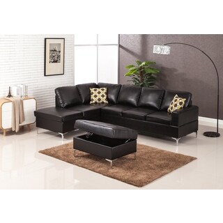 LYKE Home Marcy Sectional with Ottoman