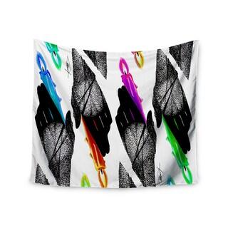 KESS InHouse Ivan Joh 'Warm Hands' Black Orange 51x60-inch Tapestry