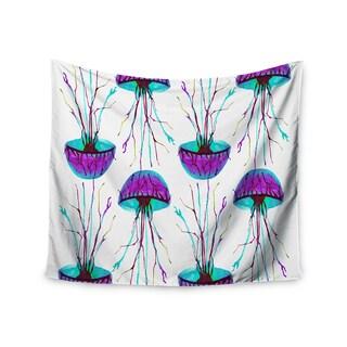 KESS InHouse Ivan Joh 'Jellyfish' Purple Aqua 51x60-inch Tapestry