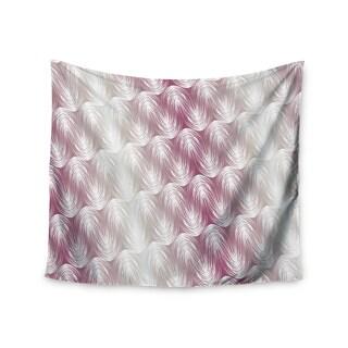 KESS InHouse Gukuuki 'Stripe Palms' Pink White 51x60-inch Tapestry
