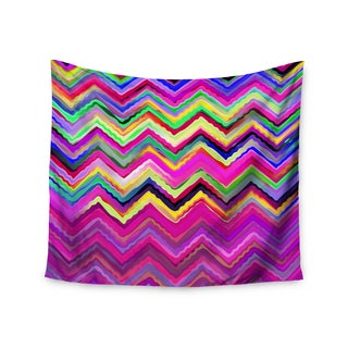 KESS InHouse Dawid Roc 'Colorful Chevron' Purple Pink 51x60-inch Tapestry
