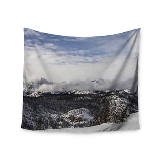 KESS InHouse Juan Paolo 'Top Of The Summit' Blue White 51x60-inch Tapestry