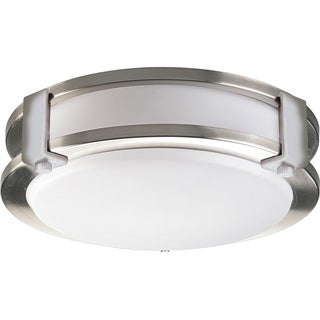 Euro Satin Nickel Steel with Acrylic Decorative Fluorescent Ceiling Fixture