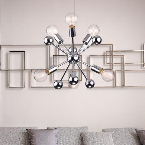 Lorena Sputnik Chrome Finish Industrial 6-light Chandelier - N/A