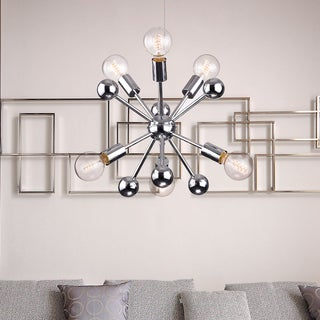 Lorena Sputnik Chrome Finish Industrial 6-light Chandelier