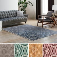 Railroad Wool & Polyester Blend Area Rug
