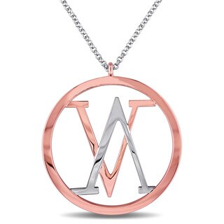 V1969 Italia Insignia Necklace In Rose Gold Plated Sterling Silver