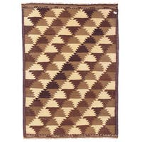 Herat Oriental Afghan Hand-woven Wool Mimana Kilim (2'7 x 3'8)
