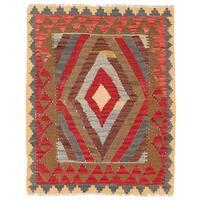 Herat Oriental Afghan Hand-woven Wool Mimana Kilim (2'10 x 3'6) - 2'10 x 3'6