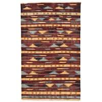 Herat Oriental Afghan Hand-woven Wool Mimana Kilim (2'11 x 4'9)