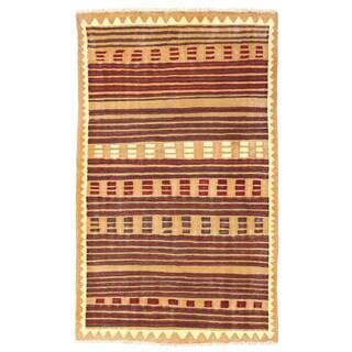 Herat Oriental Afghan Hand-woven Wool Mimana Kilim (3'2 x 5'2)