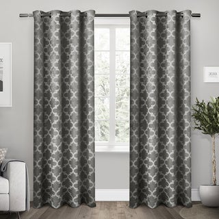 """Cartago Insulated Woven Blackout Window Curtain Panel (Pair) 84"""" in Vanilla (As Is Item)"""