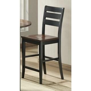 Ridgewood Black/Mahogany 24-inch Barstool