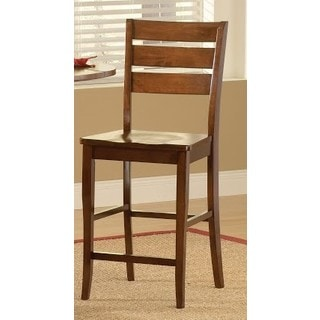 Ridgewood Mahogany-finished Wood 24-inch Barstool