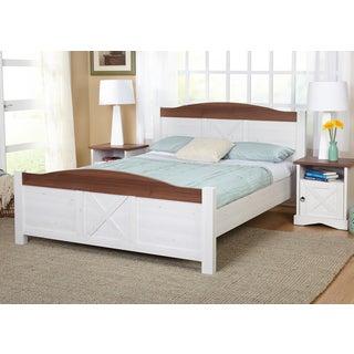 Simple Living Juliette Queen-Size Bed and Nightstand Bedroom Set