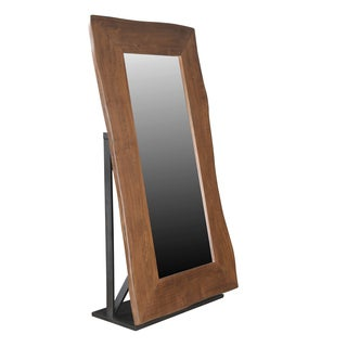 Christopher Knight Home Honey Brown Wood and Iron Mirror