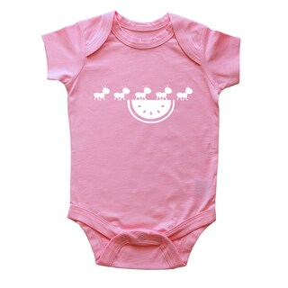 Rocket Bug Watermelon Picnic Baby Bodysuit