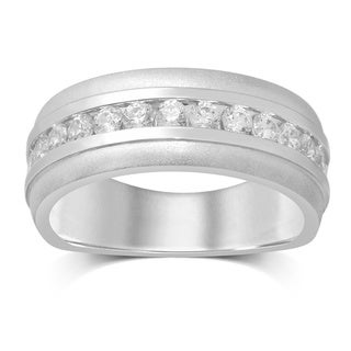 Unending Love 14k White Gold 3/4 Carat TW Machine Channel-set Band