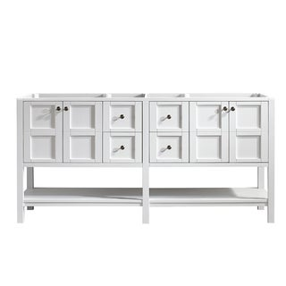 "Florence 72"" Double Vanity Only in White without Top (Mirrorless)"