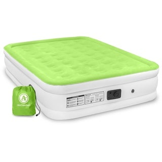 Air Comfort Dream Easy Queen Size Raised Air Mattress w/ Built-in Pump - Green