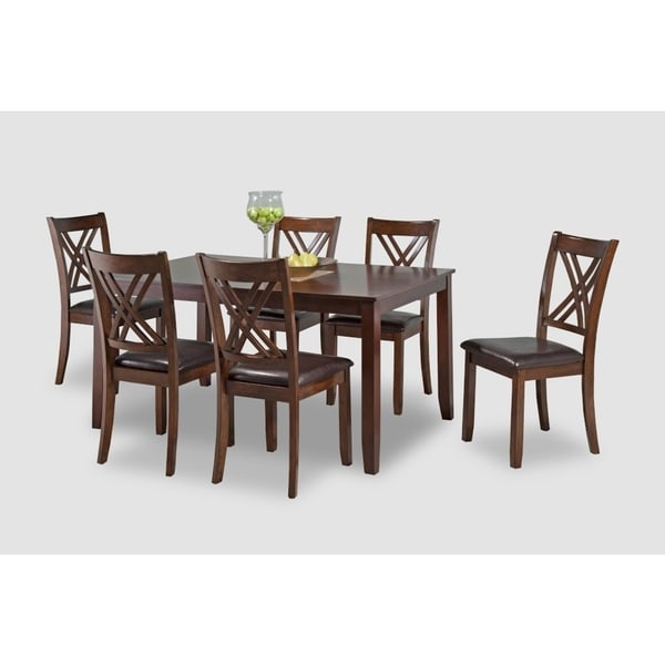 Ella Dining Room Bar: Shop Ella 7-Piece Cherry Dining Table Set With Chairs
