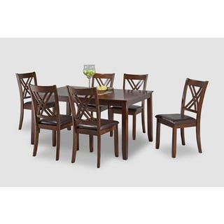 Ella 7-Piece Cherry Dining Table set with Chairs