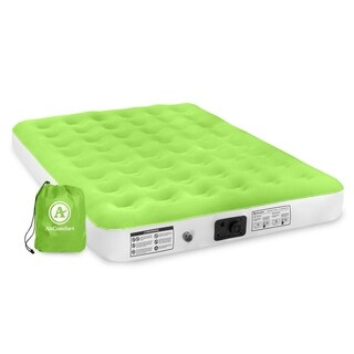 Air Comfort Dream Easy Queen Size Air Mattress with Built-in Pump - Green