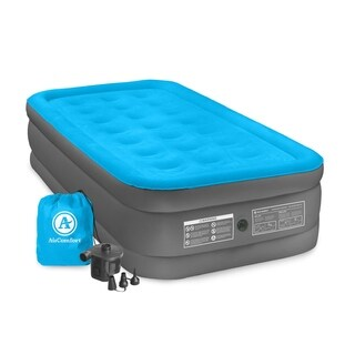Air Comfort Camp Mate Blue PVC Twin-size Raised Air Mattress