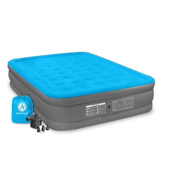 Air Comfort Camp Mate Queen Size Raised Air Mattress - Blue
