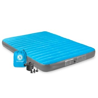 Air Comfort Camp Mate Queen Size Air Mattress - Black/Blue
