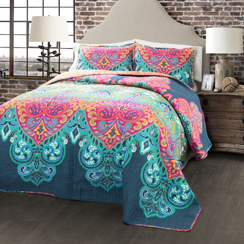The Curated Nomad La Boheme Boho Chic 3-piece Quilt Set