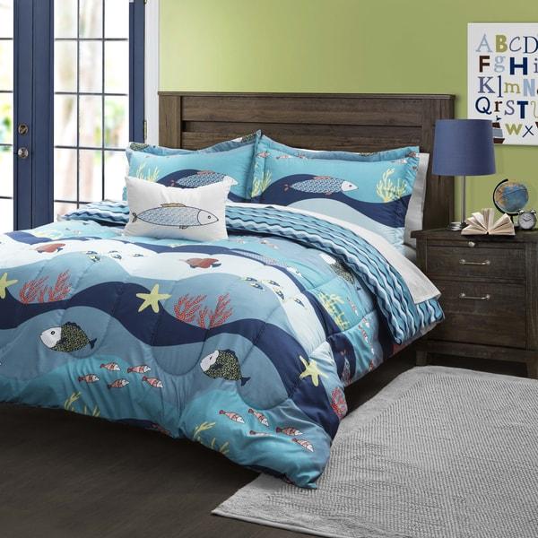 Shop Lush Decor Seaworld Comforter Set Free Shipping