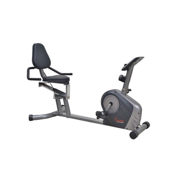 Sunny Health & Fitness SF-RB4602 Silver Recumbent Bike With Extra Capacity