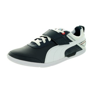 Puma Men's BMW MS MCH Mid Team Blue/White Leather Casual Shoes