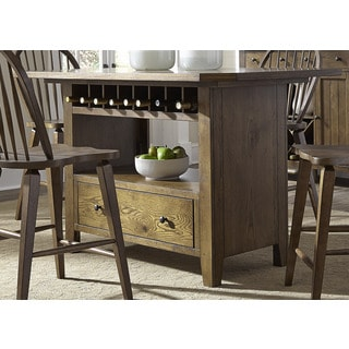 Hearthstone Rustic Oak Storage Island Table and Base