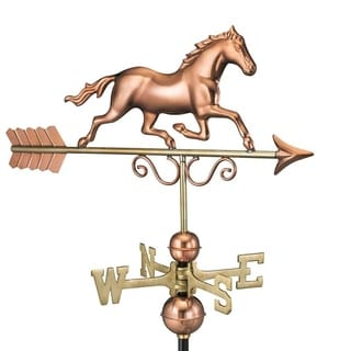 Galloping Horse Weathervane - Polished Copper by Good Directions