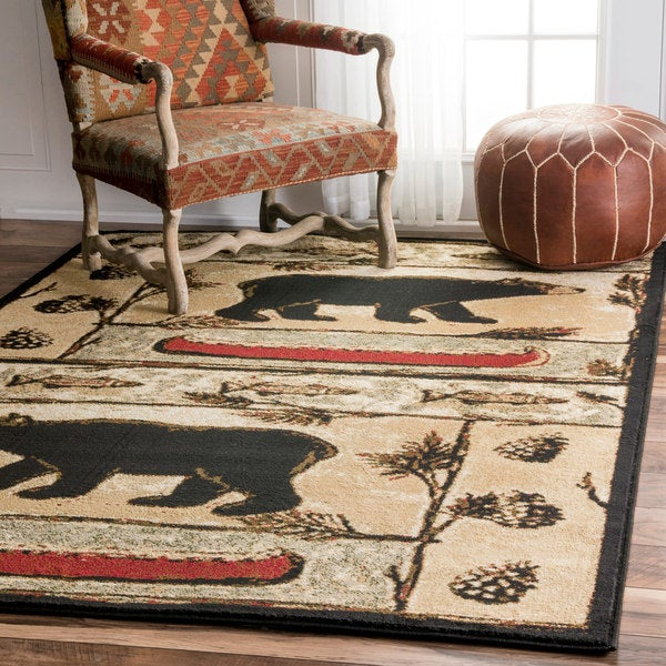 Shop Nuloom Multi Southwestern Tribal Bear Lodge Cabin