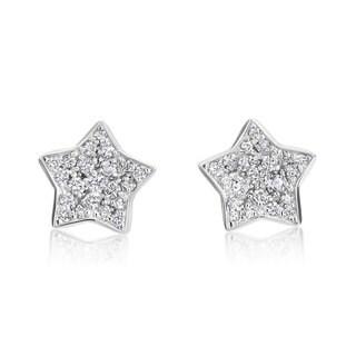 Andrew Charles 14k White Gold 1/2ct TDW Diamond Star Earrings