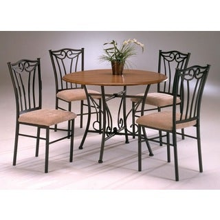 Heritage Wood and Metal 5-piece Dinette - Brown