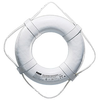 Cal-June Incorporated White United States Coast Guard Approved 19-inch Ring Life Preserver
