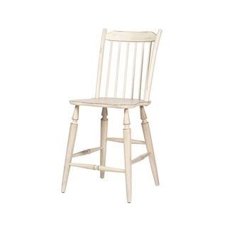 The Gray Barn Flintshire Antique White Windsor Back Counter Height Barstool
