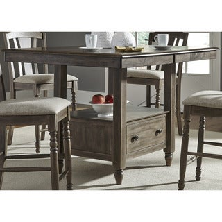 Candlewood Weathered Grey Center Storage Island Top and Base
