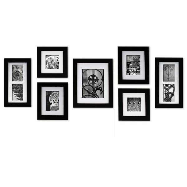 Gallery Perfect Create A Gallery Black Wood Frame 7 Piece